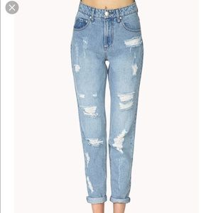 Forever21 Distressed Boyfriend Jeans